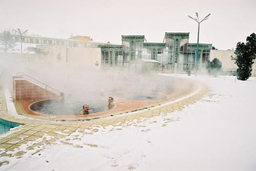 Télen is lehetett fürdeni