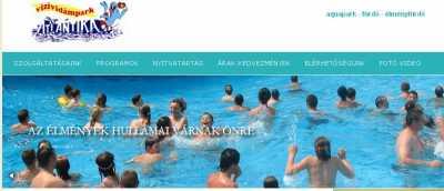 Atlantika Vízividámpark Gergelyiugornyán