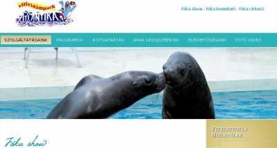 Atlantika Vízividámpark - fóka és papagáj show
