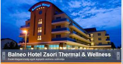 Balneo Hotel Zsori Thermal & Wellness szálloda Mezőkövesd