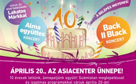 10 éves az AsiaCenter: Nagyszabású egész napos rendezvénnyel készülnek