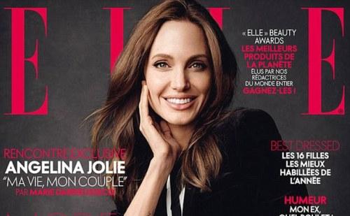 Angelina Jolie az Elle címlapján