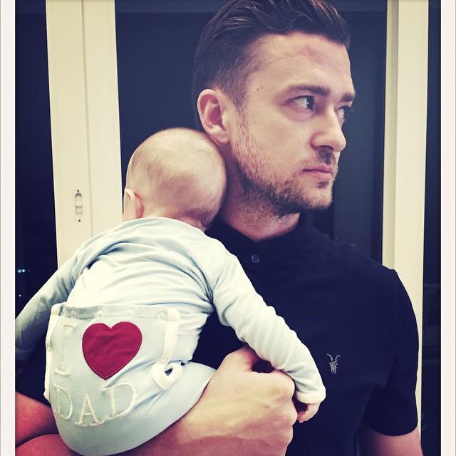 Justin Timberlake gyermekével