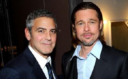 Balhézik Pitt és Clooney