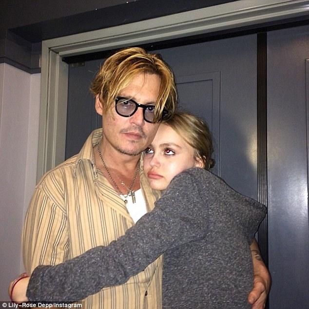 Johnny Depp és lánya