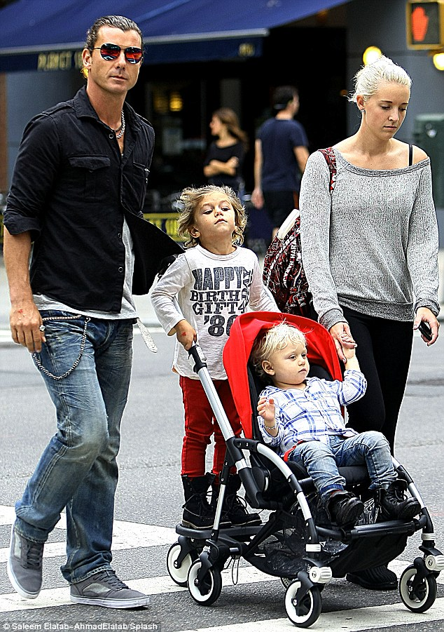 Gavin Rossdale a dadával