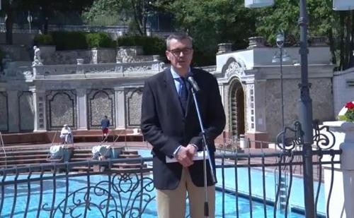 Az idei strandszezont Ruszinkó Ádám turizmusért felelős helyettes államtitkár nyitotta meg