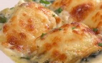 Süss krémes, spenótos-articsókás raviolit!