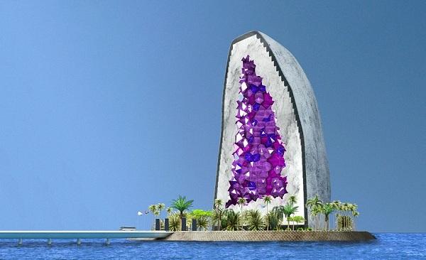 Kristályhotel készül a kínai tengerre