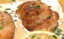 Krémes-citromos csirke parmezánnal